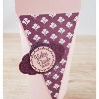 selbstschließende Box, Florale Eleganz, Zier-Etikett, Quartett fürs Etikett