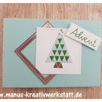 Weihnachtsquilt, Stickmuster, Adventskalender to go, Stampin'Up!