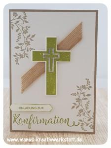 Hoffe und Glaube, Kreuz der Hoffnung, Segensfeste, Stampin'Up!, Konfirmation