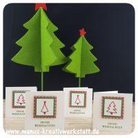 malerische Weihnachten, Weihnachtsquilt, Stampin'Up!