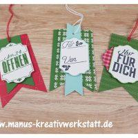Weihnachtliche Etiketten, Weihnachtsquilt, stampin'Up!