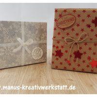 Verpackung, Weihnachtliche Etiketten, Durch das Jahr, Sternenstanze, Stampin'Up