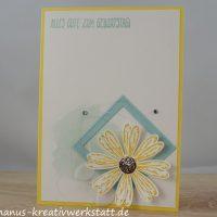 Gänseblümchen, Stickmuster, perfekter Geburtstag, Swap, Kartenswap