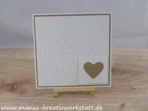 Hochzeitskarte, Blütenregen, Stampin'Up!