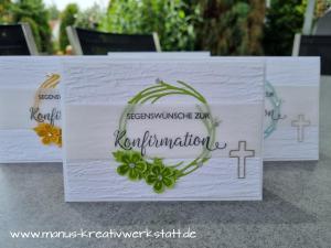 Konfirmation, Segensfeste, Herbst- und Winterkränze, Zauberhafte Grüße, Stampin'Up!, Kreuz der Hoffnung