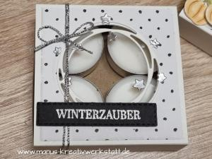 create & Share, Herbst- und Winterkränze, Schöner Kranz, Stampin'Up!, Teelichter,