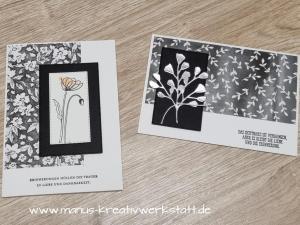 Create & Share, Stampin'Up, Trauerkarte, Painted Poppies, Geschmackvoll Gestaltet, Am Besten Zusammen
