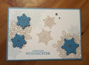 Flockenzauber - Weihnachtskarte