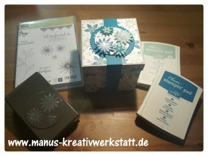 Explosionsbox mit Material Stampin Up