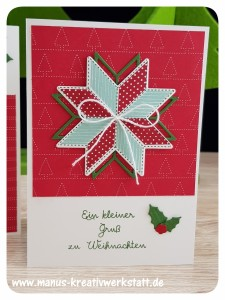 Weihnachtsquilt, Stampin'Up!