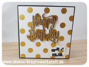 Happy Birthday, Pink mit Pep, Stampin'Up!, Labeler Alphabet