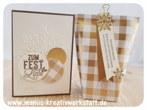 Box in a Bag, Winterfreuden, Weihnachtliche Etiketten, Stampin'Up!