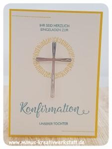 Hoffe und Glaube, Kreuz der Hoffnung, Segensfeste, Stampin'Up!, Cheers to the Year, Gänseblümchengruß, Konfirmation