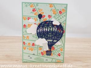 abgehoben, In den Wolken, Traum vom Fliegen, Stampin'Up!, Double Corner Pocket Fold Card