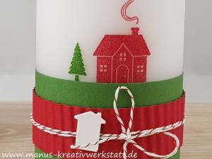 Kerze, Weihnachten Daheim, Stampin'Up!, Teamswap
