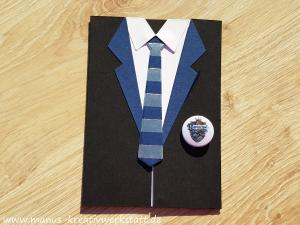 Stampin'up! Harry Potter, Anzug und Krawatte, Button