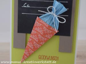 Schulanfang, Einschulung, Grüße voller Sonnenschein, Chalk Board Technik, Stampin'Up!