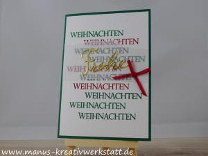 weihnachtliche Vielfalt, Schöne Feiertage, Stampin'Up!