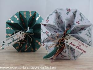 Weihnachtszeit, Stampin'Up, Origami Sternenbox