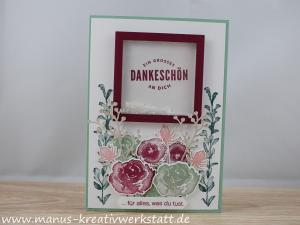 Eisblüten, Stampin Up,  Winterbouquet