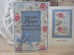 Eisblüten, Winterbuoquet, Floating Frame, Stampin'Up!, Geburtstag