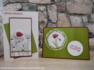 Painted Poppies, Stampin'Up!, Bezaubernde Etiketten, Mohnblumen