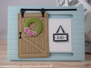 Barn Door, Schiebetür, Stampin'Up!