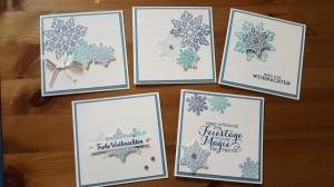 Flockenzauber - kleine Karten 10 x 10 cm